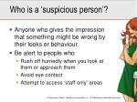 who is a suspicious person