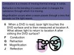 laser light striking a dvd