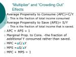 multiplier and crowding out effects3