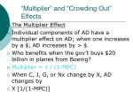 multiplier and crowding out effects6