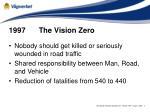 1997 the vision zero