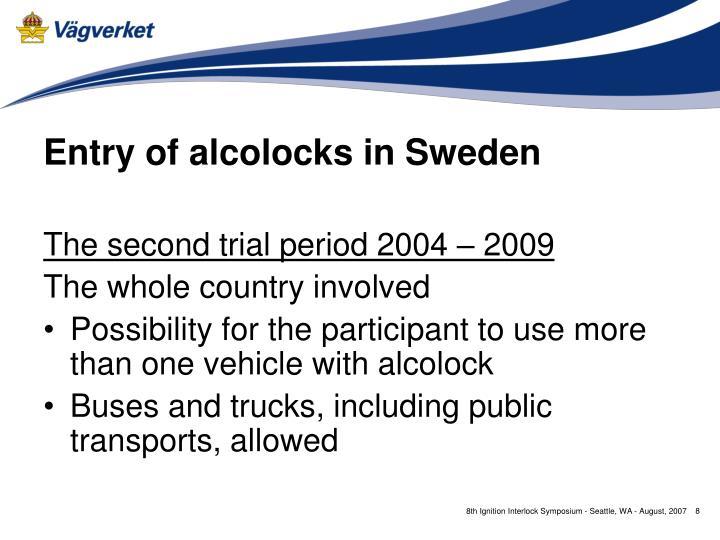 Entry of alcolocks in Sweden