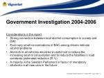 government investigation 2004 20061