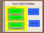 core uddi entities