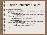 keyed reference groups