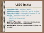 uddi entities