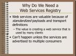 why do we need a web services registry