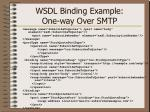 wsdl binding example one way over smtp