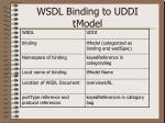 wsdl binding to uddi tmodel