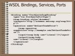 wsdl bindings services ports