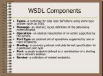 wsdl components