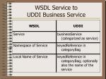 wsdl service to uddi business service