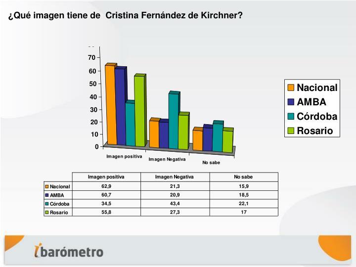 ¿Qué imagen tiene de  Cristina Fernández de Kirchner?