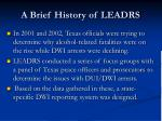 a brief history of leadrs