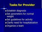 tasks for provider