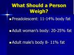 what should a person weigh