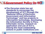 1 government policy on ict