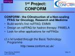 1 st project conform