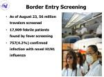 border entry screening