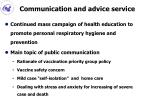 communication and advice service