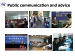 public communication and advice