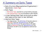 a summary on data types