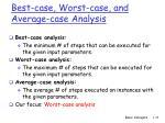 best case worst case and average case analysis