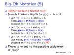 big oh notation 5