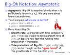 big oh notation asymptotic