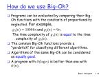 how do we use big oh
