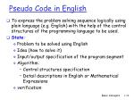 pseudo code in english