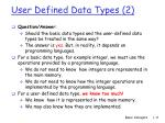 user defined data types 2
