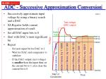 adc successive approximation conversion