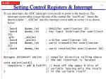 setting control registers interrupt