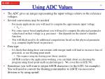 using adc values