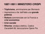 1887 1891 i ministero crispi