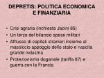 depretis politica economica e finanziaria