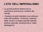 l eta dell imperialismo
