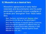 9 2 mussolini as a classical hero