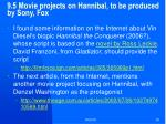 9 5 m ovie projects on hannibal to be produced by sony fox