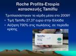 roche profits tamiflu