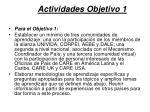 actividades objetivo 1