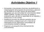 actividades objetivo 12