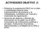actividades objetivo 21