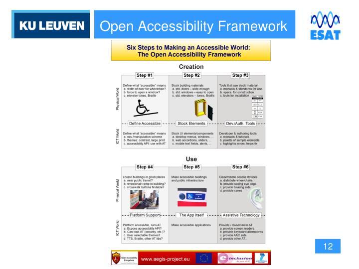 Open Accessibility Framework