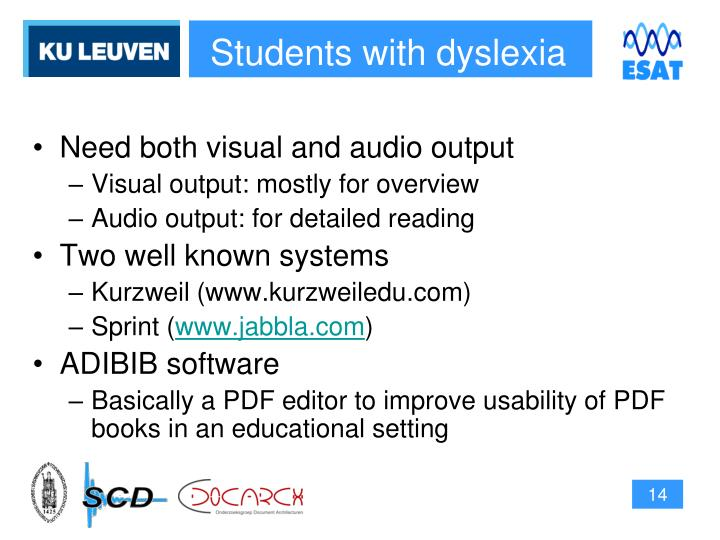 Students with dyslexia
