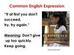 common english expression
