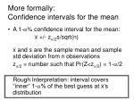 more formally confidence intervals for the mean