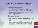 how is the demo created