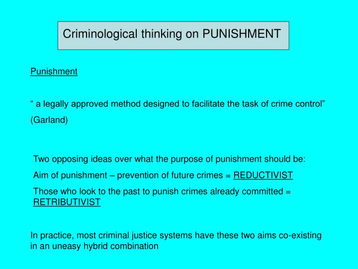 the theories of punishment in the english legal system